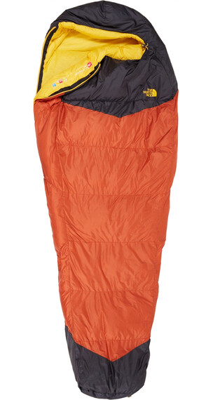 The North Face Gold Kazoo Sleeping Bag Long Orange Rust/Asphalt